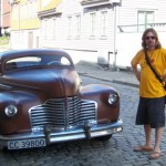 Ian and antique car
