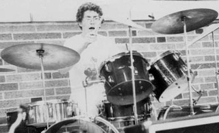 Pat in High School on the Drums